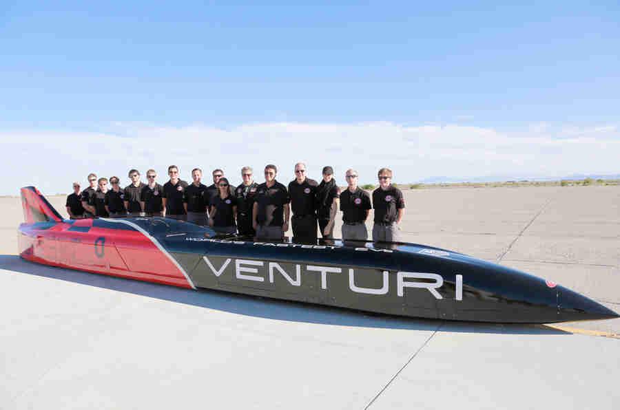 Venturi计划372mph电力陆速记录运行