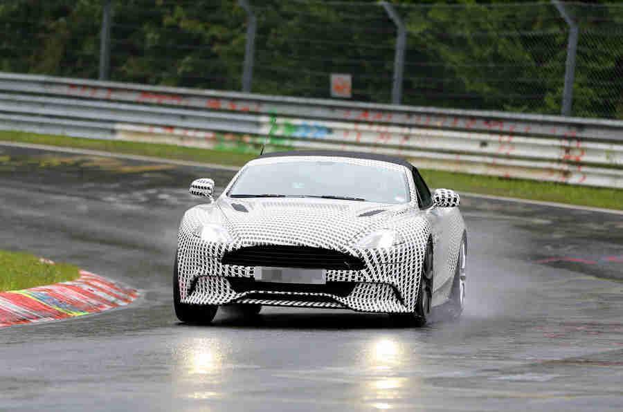 Aston Martin vanquish volante  - 最新间谍镜头