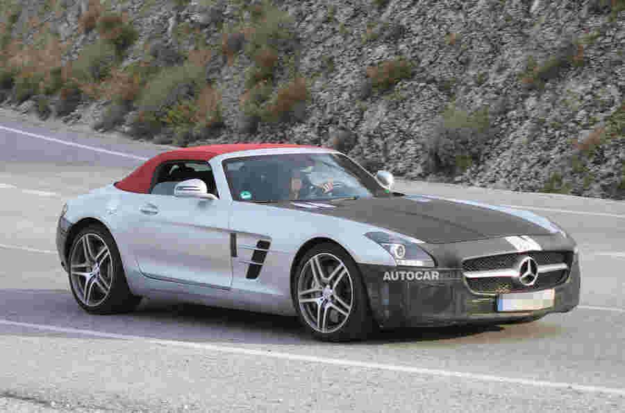 梅赛德斯SLS AMG测试了新的发动机911竞争对手