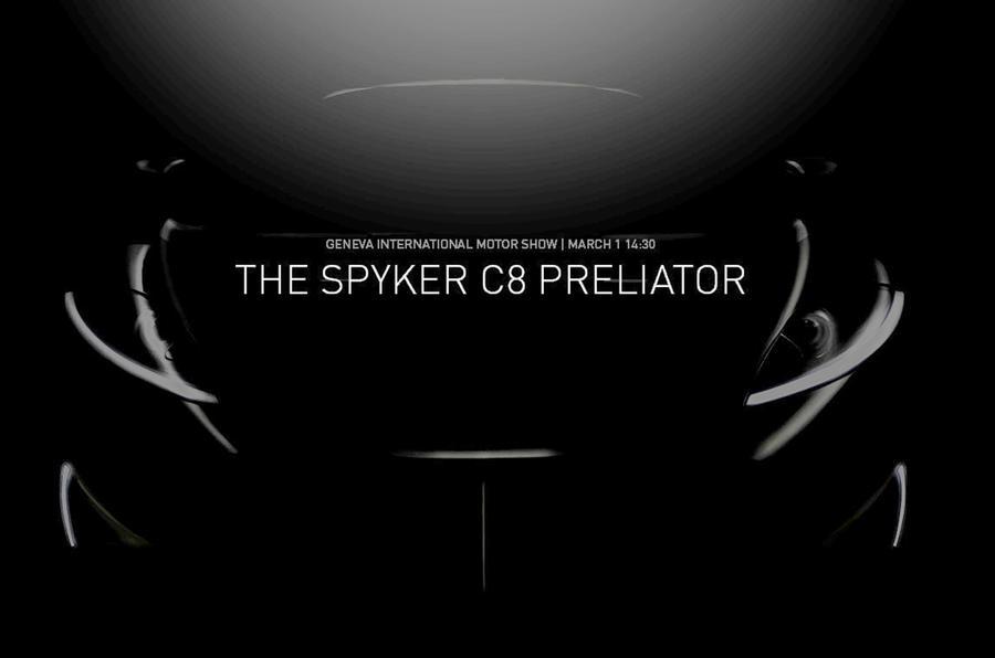 SPYKER C8预升降机在日内瓦电机展会上提前戏弄