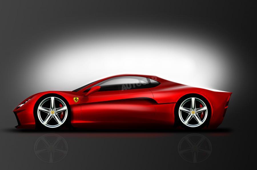 Ferrari Dino V6'仍在绘图板上'